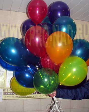 воздушные шары ассорти металик