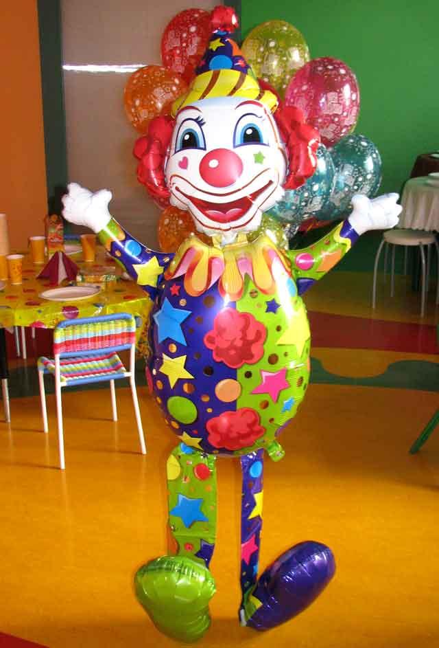 Клоун ходячка фальгированный