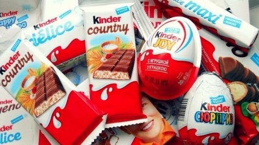 в шоколаде Kinder найдены вещества, вызывающие рак